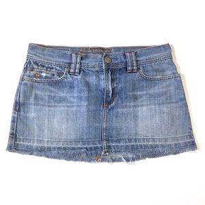 Abercrombie & Fitch Mini Skirt Distressed Denim